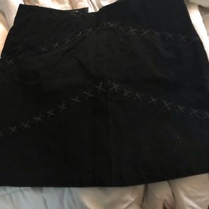 Black suede skirt mini